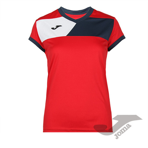 900385.603 CREW II S/S RED-NAVY WOMAN